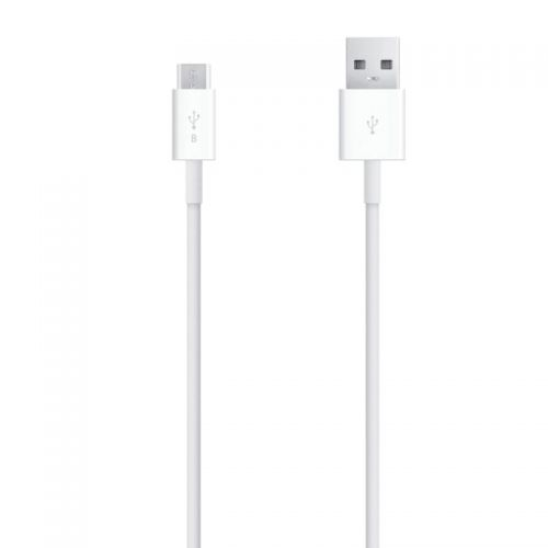 Black micro USB cable to charge and synchronize