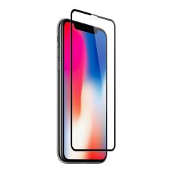 iPhone X - XS - Curved tempered glass screenprotector 9H 3D
